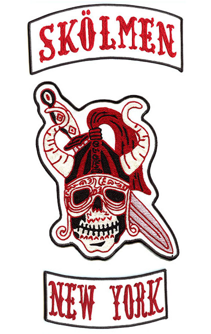 custom embroidered mc skull patches